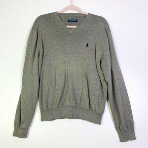 Polo Ralph Lauren Men V Neck Long Sleeve Sweater M